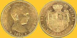 Spain 1890 20P.jpg (100022 bytes)